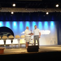 Ken taking home Bronze Lindy at Oshkosh 2014 Rotorcraft awards