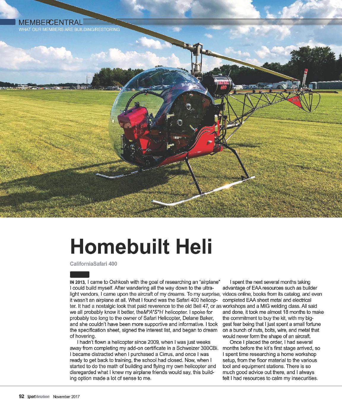 home safari helicopter